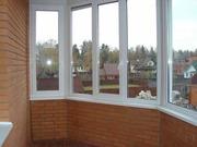 Балконные рамы раздвижные из алюминия и ПВХ с установкой