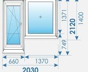 Балконные группы 2030 х2120 Пвх профиль Rehau-8