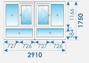 Окна Пвх 2910х1750 дешево профиль Rehau